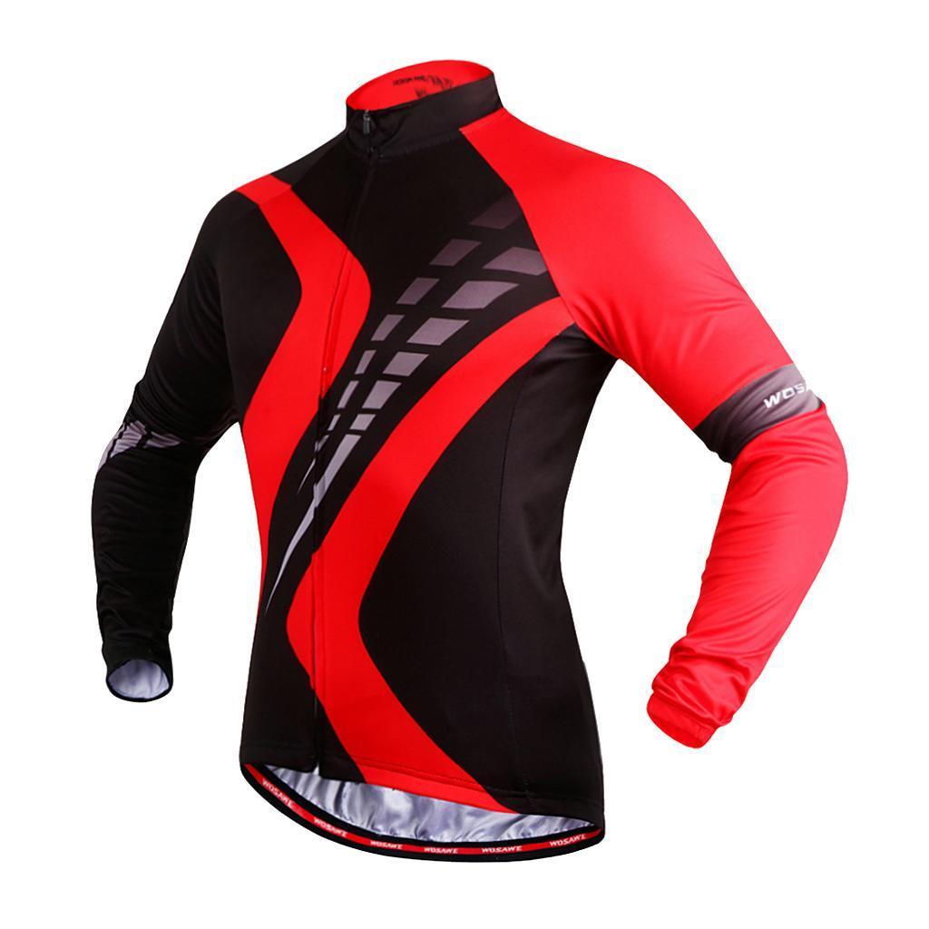 Maillot-Cyclisme-Manches-Longues-Respirant-Sechage-Rapide-Tenus-pour-Velo miniature 19