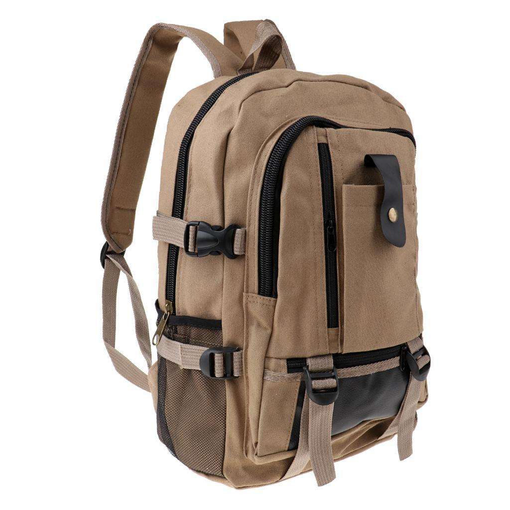Sac-a-dos-En-Toile-Sac-D-039-ordinateur-Portable-Cartable-Pack-De-Sport-En miniature 10