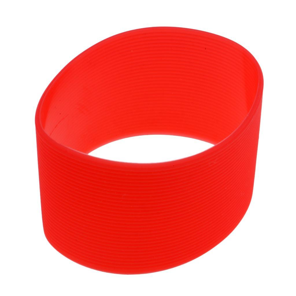 MagiDeal-Outdoors-Silicone-Round-Non-slip-Water-Bottle-Mug-Cup-Sleeve-Cover thumbnail 9