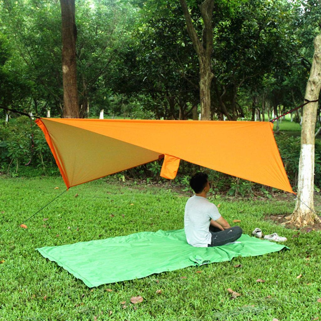 3 X 3M Rain Fly Tarp New 2 Person Travel Camping Hammock w// Mosquito Net
