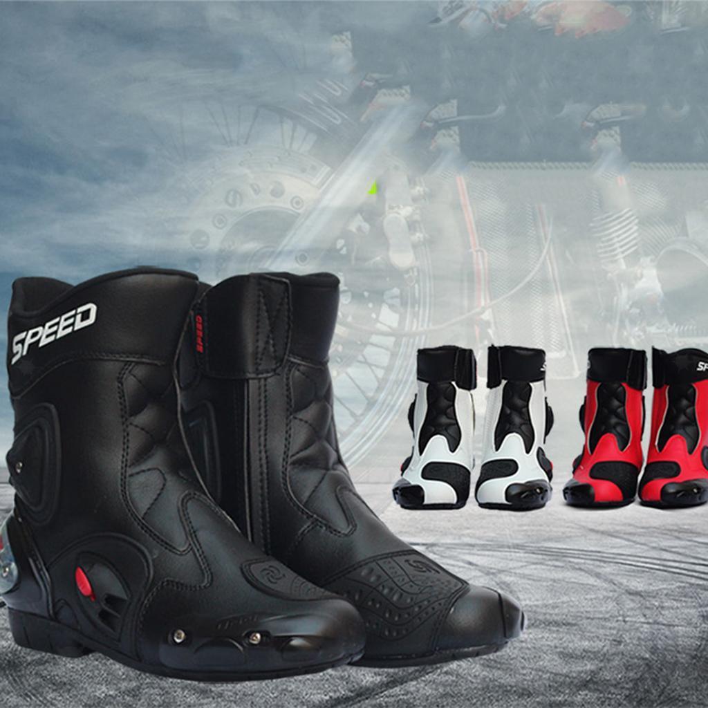 Bottes-de-Moto-Mode-Touring-Chaussures-d-039-Equitation miniature 17