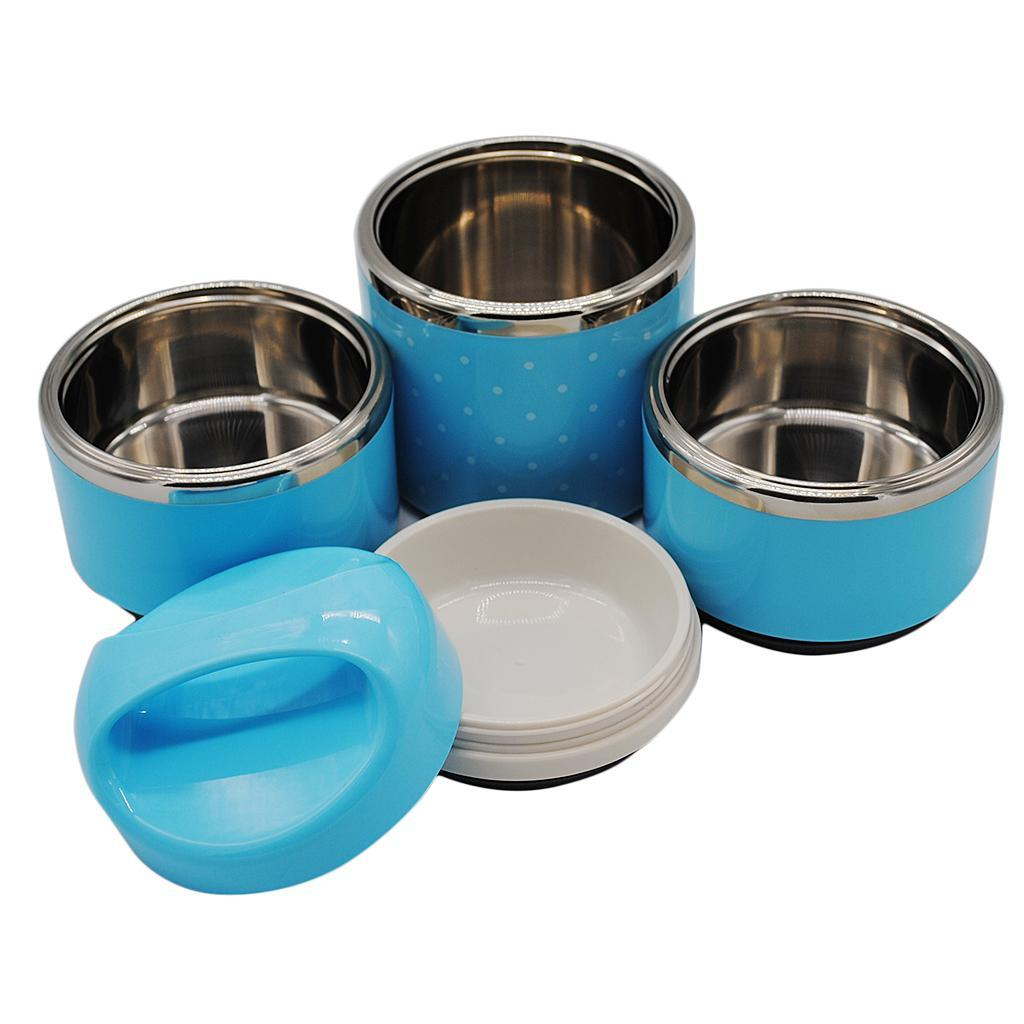 1//2//3 Layer Stainless Steel Lunch Thermal Box with Insulated Stackable Bag Bag