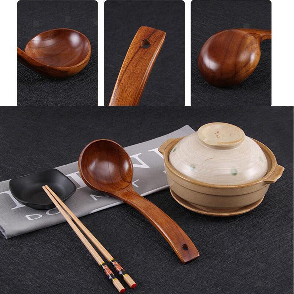 Verschiedene Holzlöffel Klassische Holz Küche Suppe Schöpfkelle