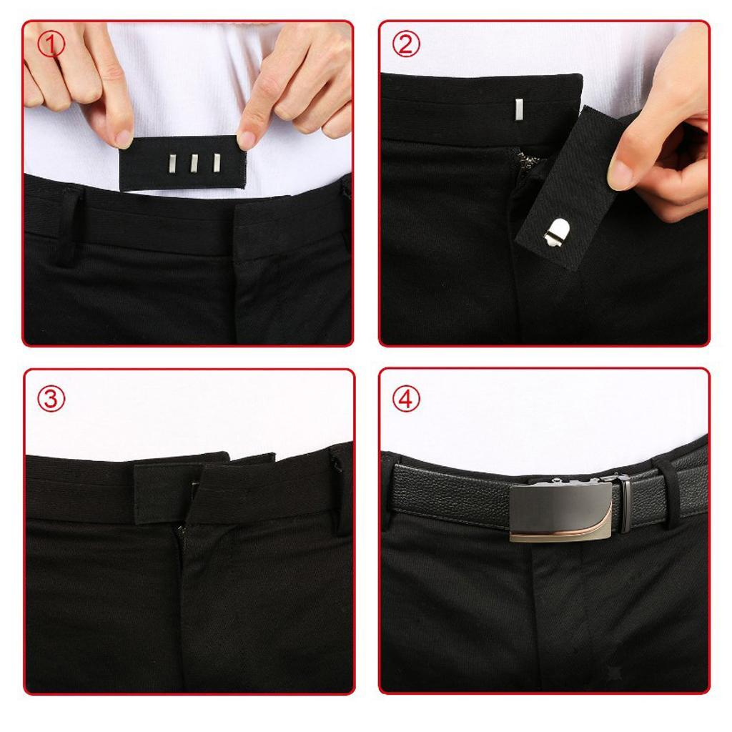 5-Pieces-Pants-Waist-Extender-with-Hook-for-Pants-Jeans-Trousers-and-Skirt thumbnail 6