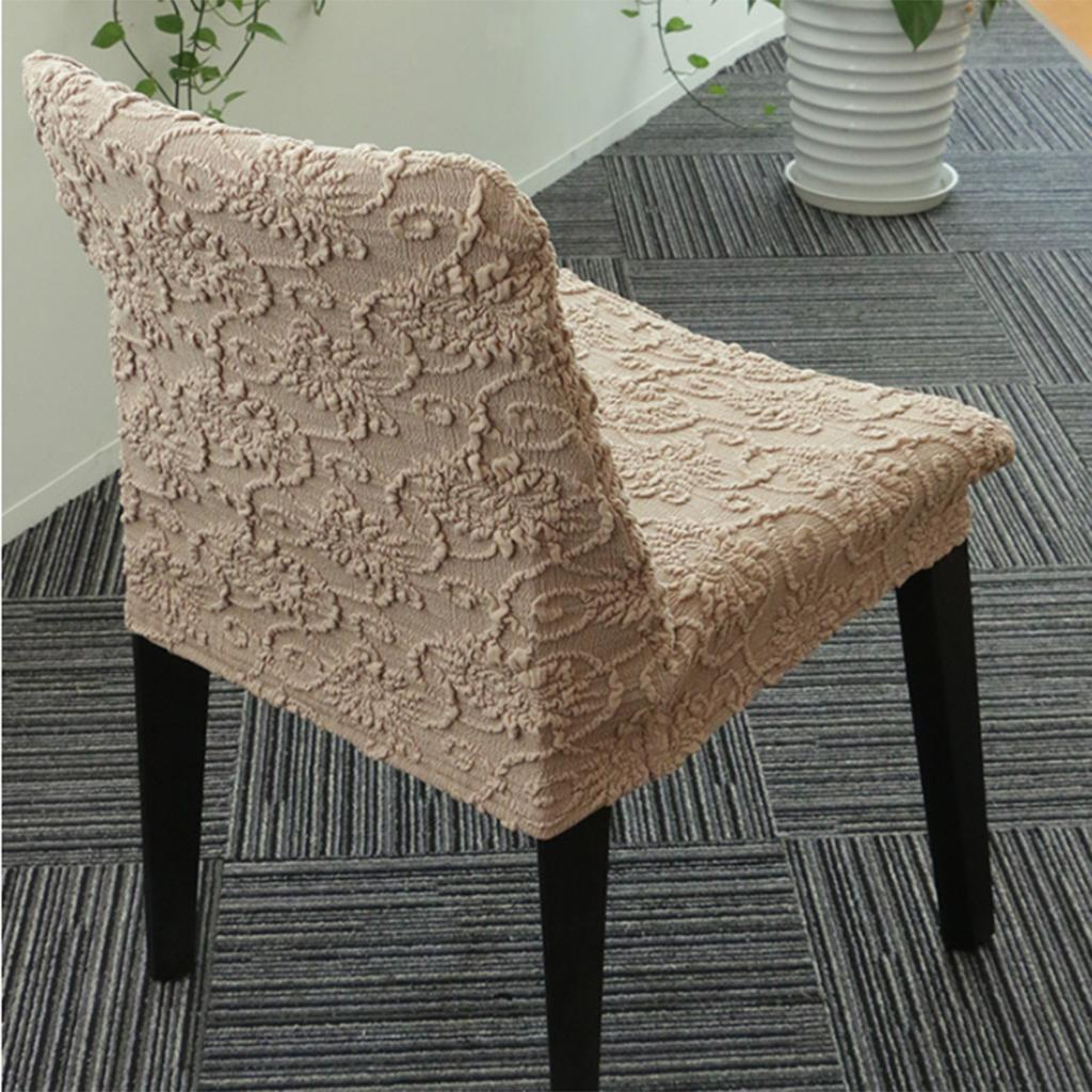 Jacquard Low Back Stretch Short Dining Room Chair Cover