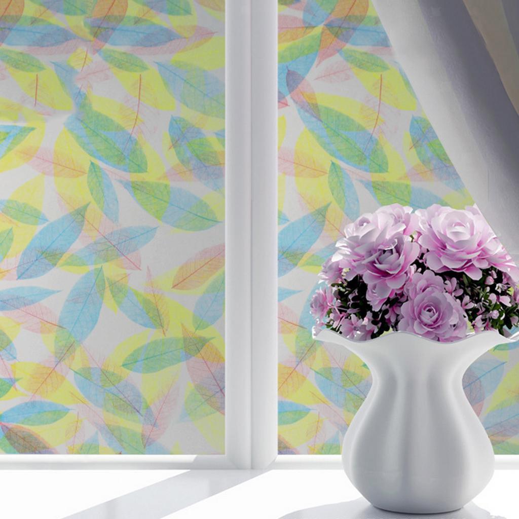 Self Adhesive 45x200cm Decorative Window Film Privacy