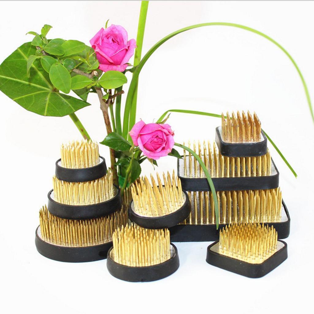 Ikebana-Kenzan-Spiky-Flower-Frog-Plant-Arranging-Fixed-Tool-Flower-Hobby thumbnail 4
