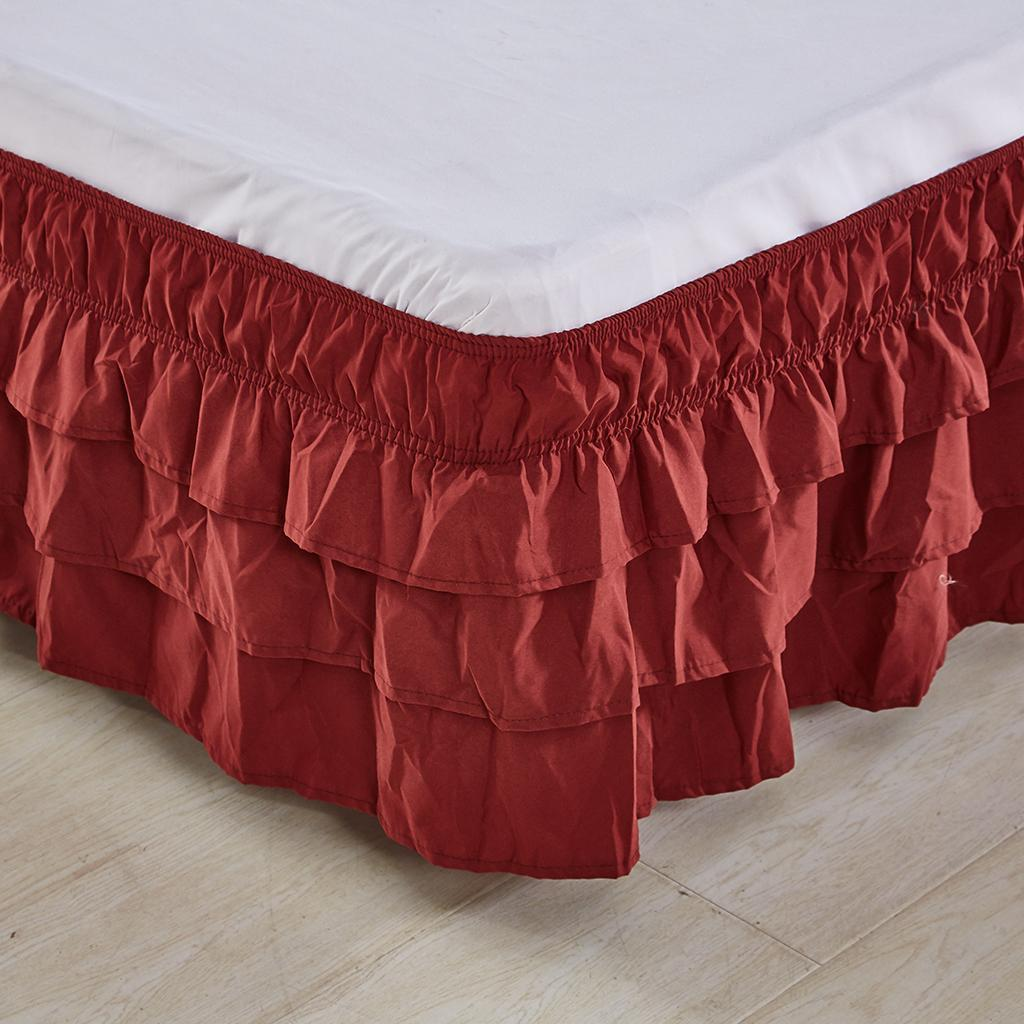 Blesiya-38cm-Drop-Bed-Skirts-Multi-Ruffle-Waterfall-Bedskirts-All-Sizes thumbnail 30