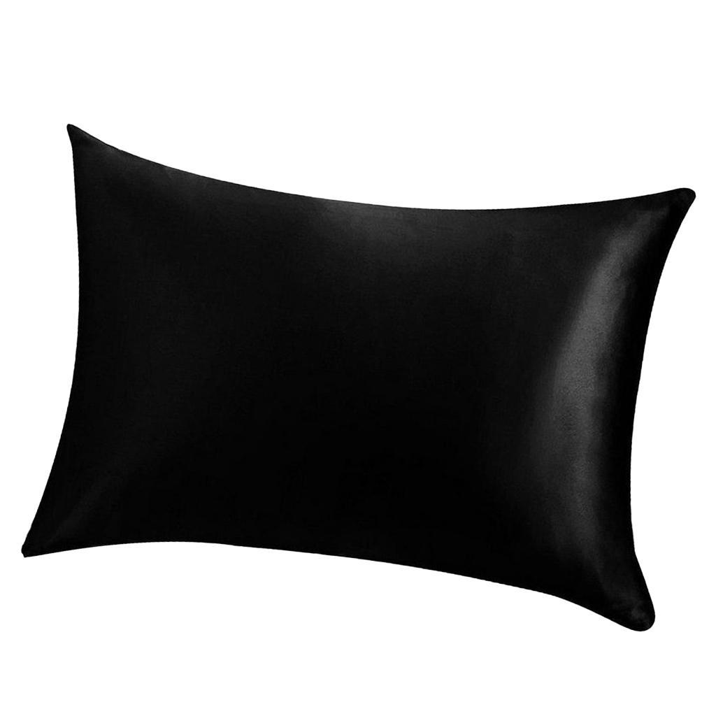 Solid Color 100 Satin Faux Silk Pillow Case Protector Us