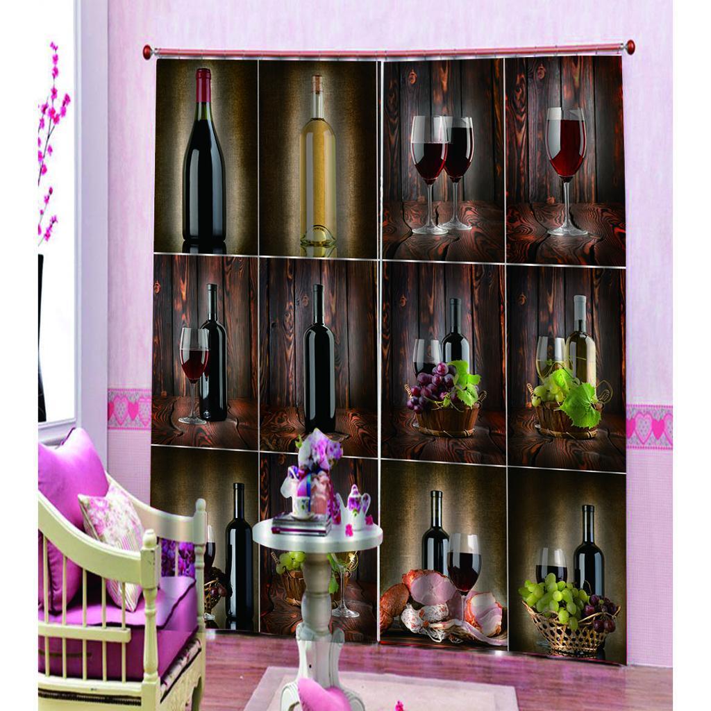 miniatura 6 - Tende per finestre decorative Stampa di bottiglie di vino, tende a ridurre