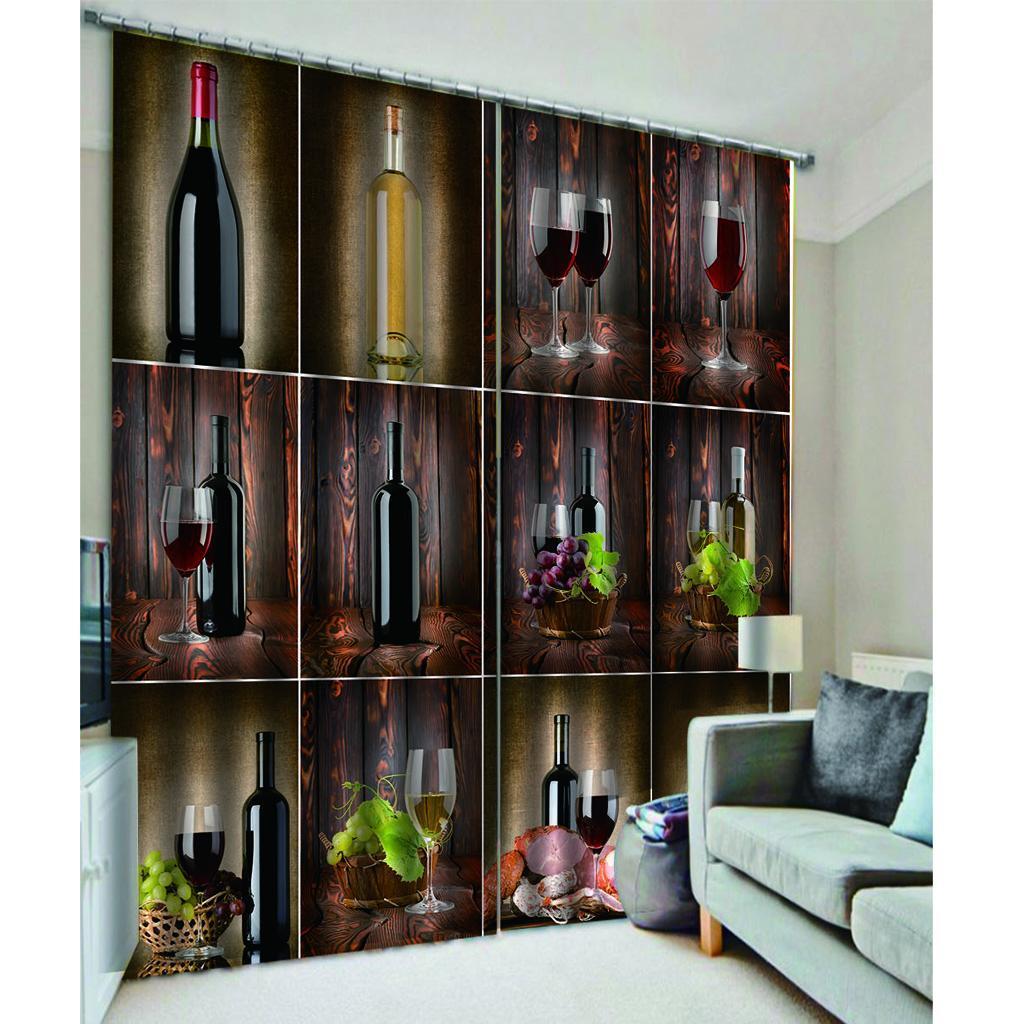 miniatura 5 - Tende per finestre decorative Stampa di bottiglie di vino, tende a ridurre