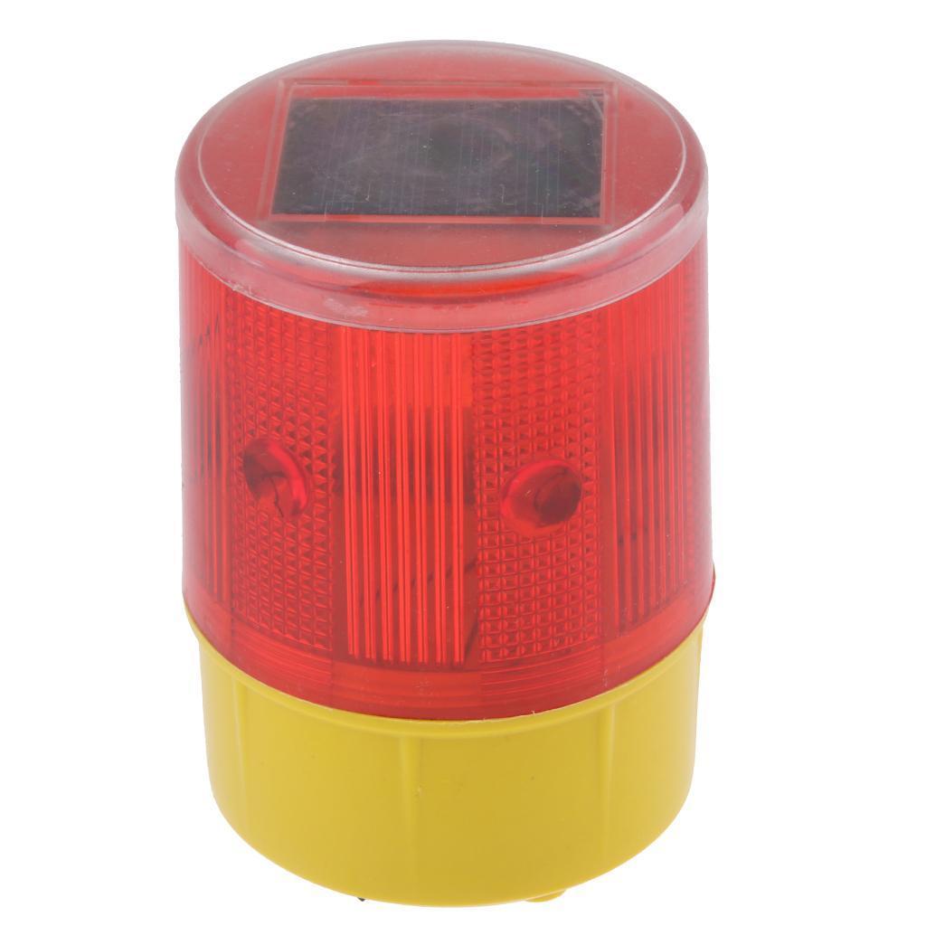 thumbnail 9 - Solar 3 LED Flashing Amber Strobe Beacon Emergency Warning Light Car Lamp