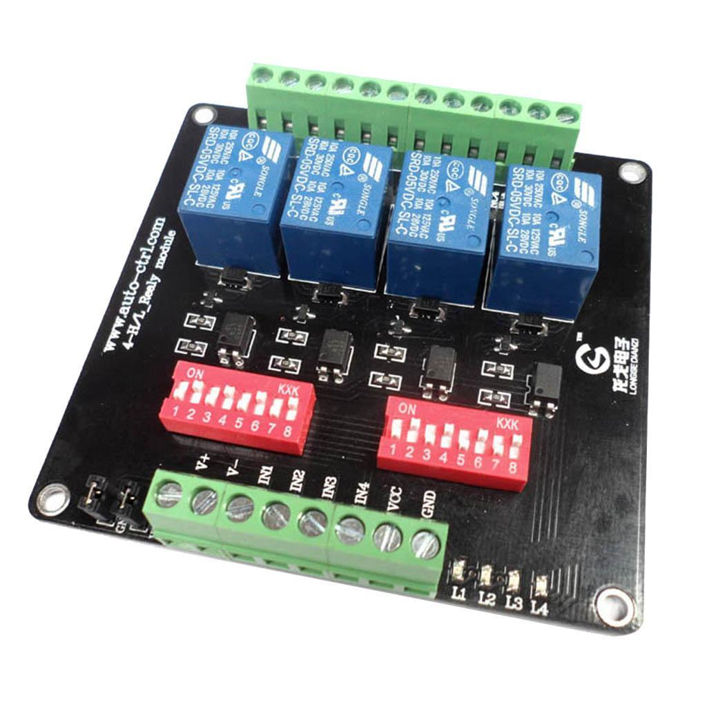 4-Channel-Isolation-3-5-12-24V-Relay-Board-Module-Optocoupler-High-Low-Level miniature 6