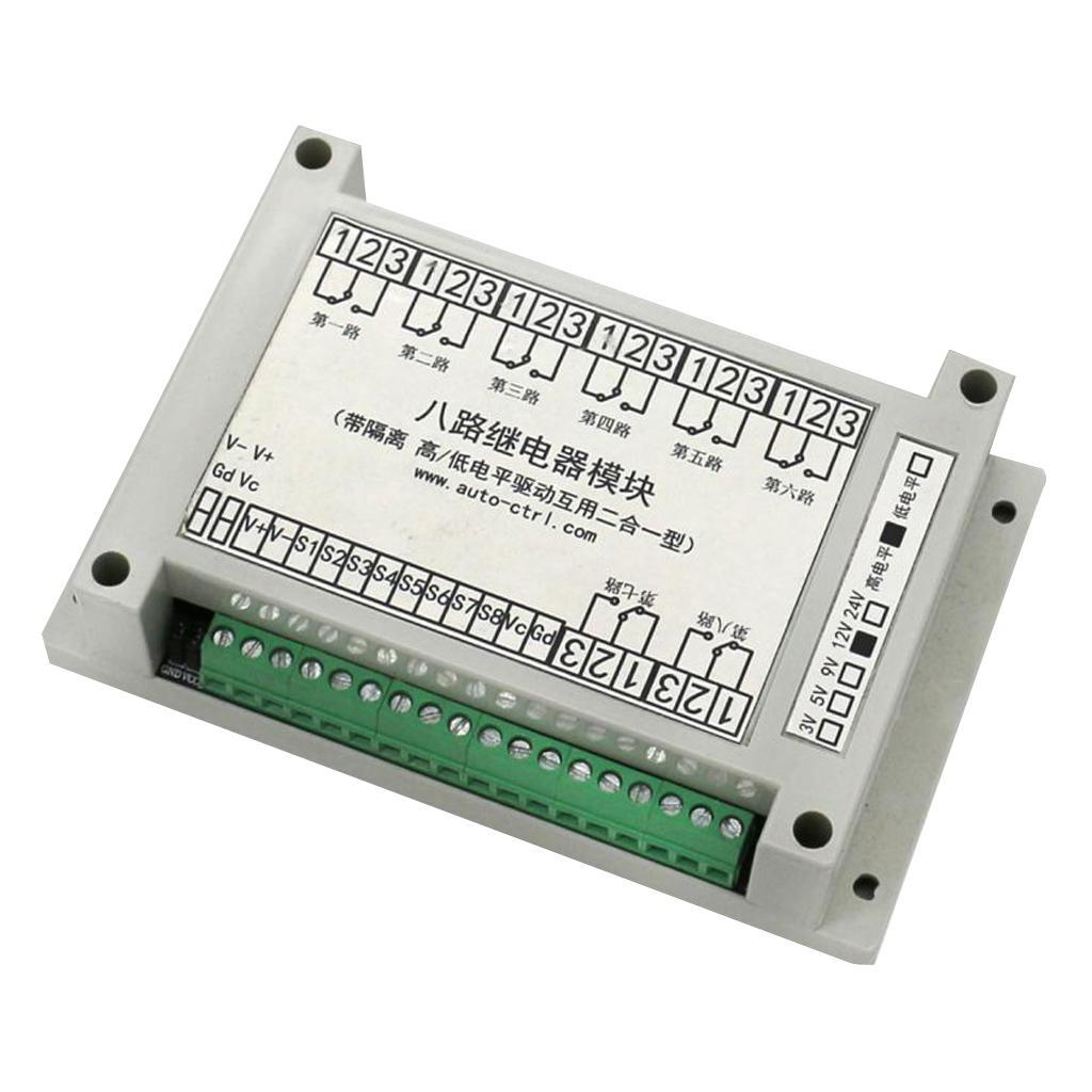 8-Channel-Isolation-3-5-12-24V-Relay-Board-Module-Optocoupler-High-amp-Low-Level miniature 6