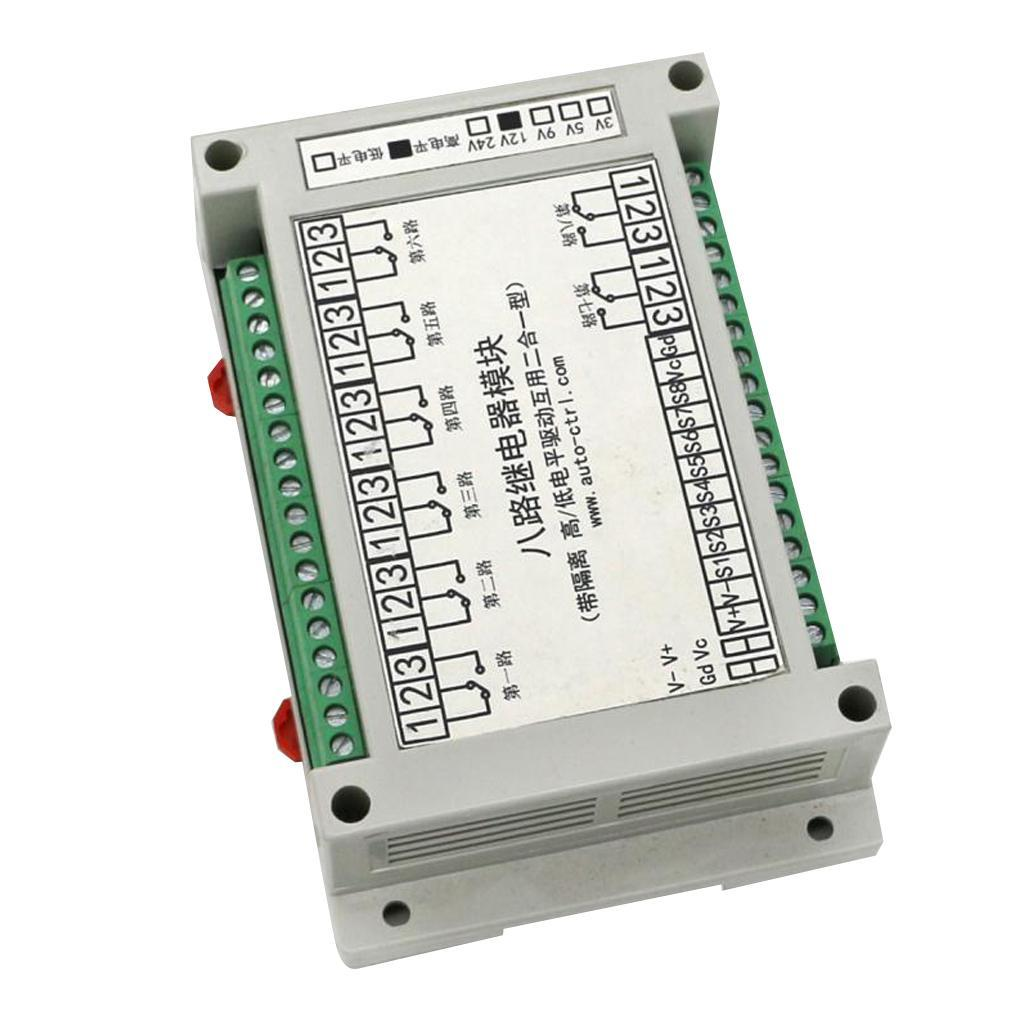 8-Channel-Isolation-3-5-12-24V-Relay-Board-Module-Optocoupler-High-amp-Low-Level miniature 7