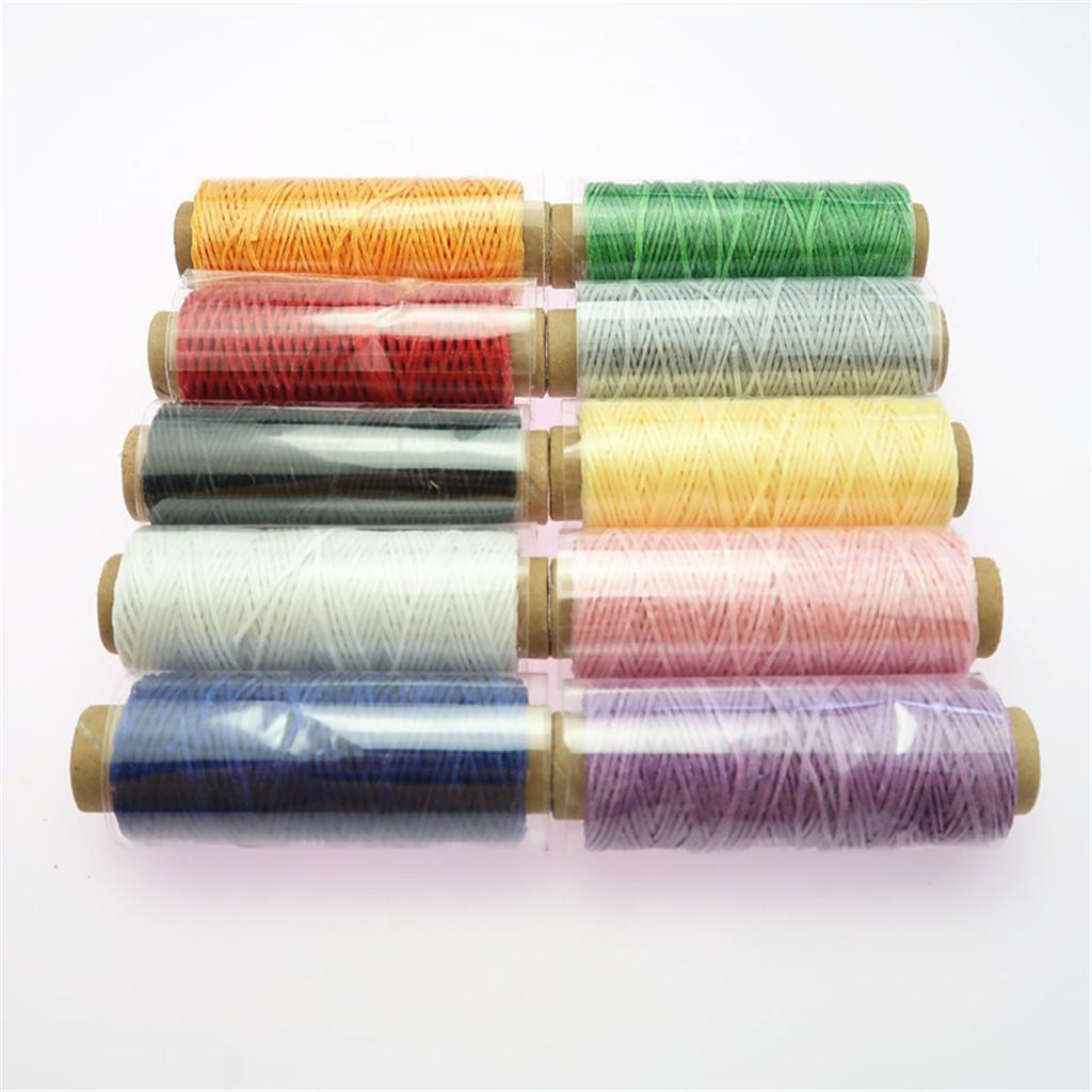 10-Pieces-Leather-Accesseory-Cotton-Wax-Thread-for-Domestic-Sewing-Machine thumbnail 7