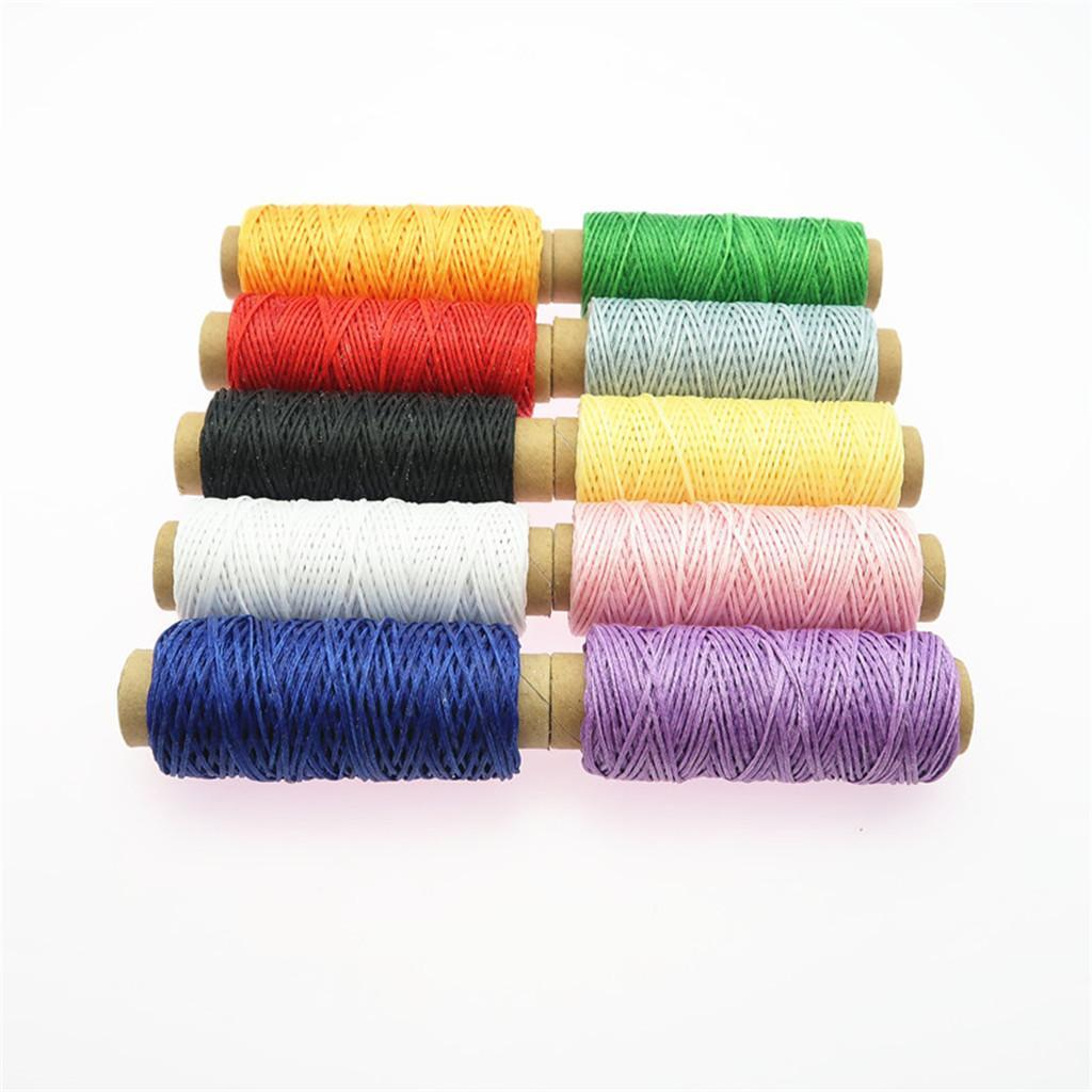 10-Pieces-Leather-Accesseory-Cotton-Wax-Thread-for-Domestic-Sewing-Machine thumbnail 8