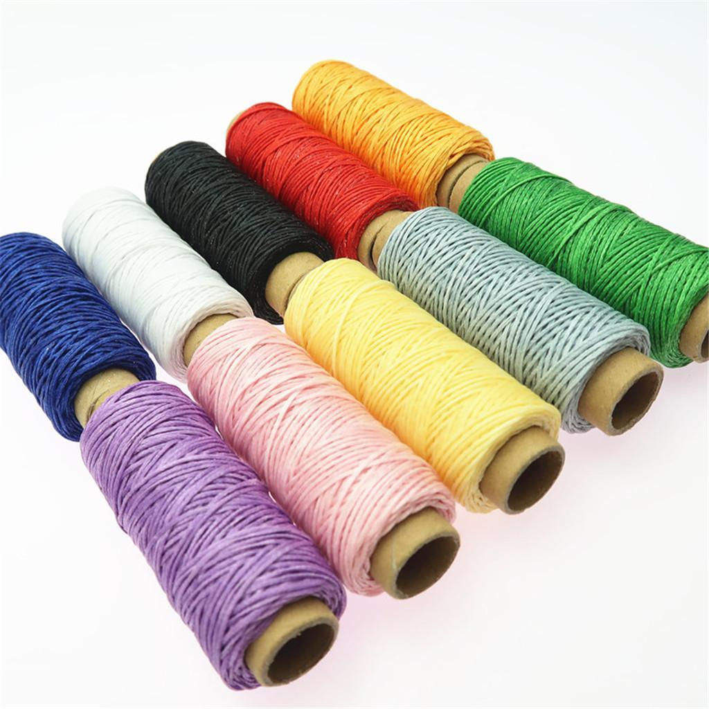 10-Pieces-Leather-Accesseory-Cotton-Wax-Thread-for-Domestic-Sewing-Machine thumbnail 9
