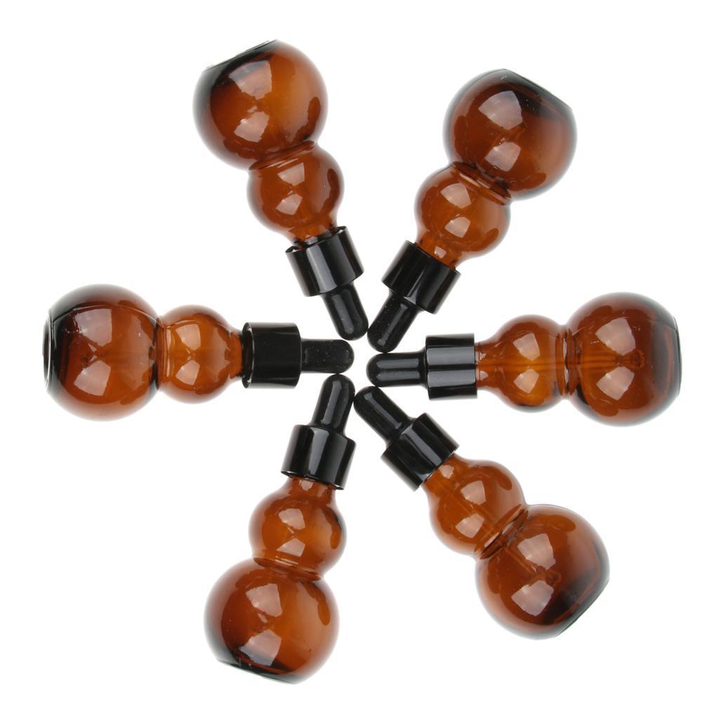 6-Pezzi-Bottiglie-Contagocce-Flacone-Olio-Essenziali-Liquido-Accessori-Vetro miniatura 8