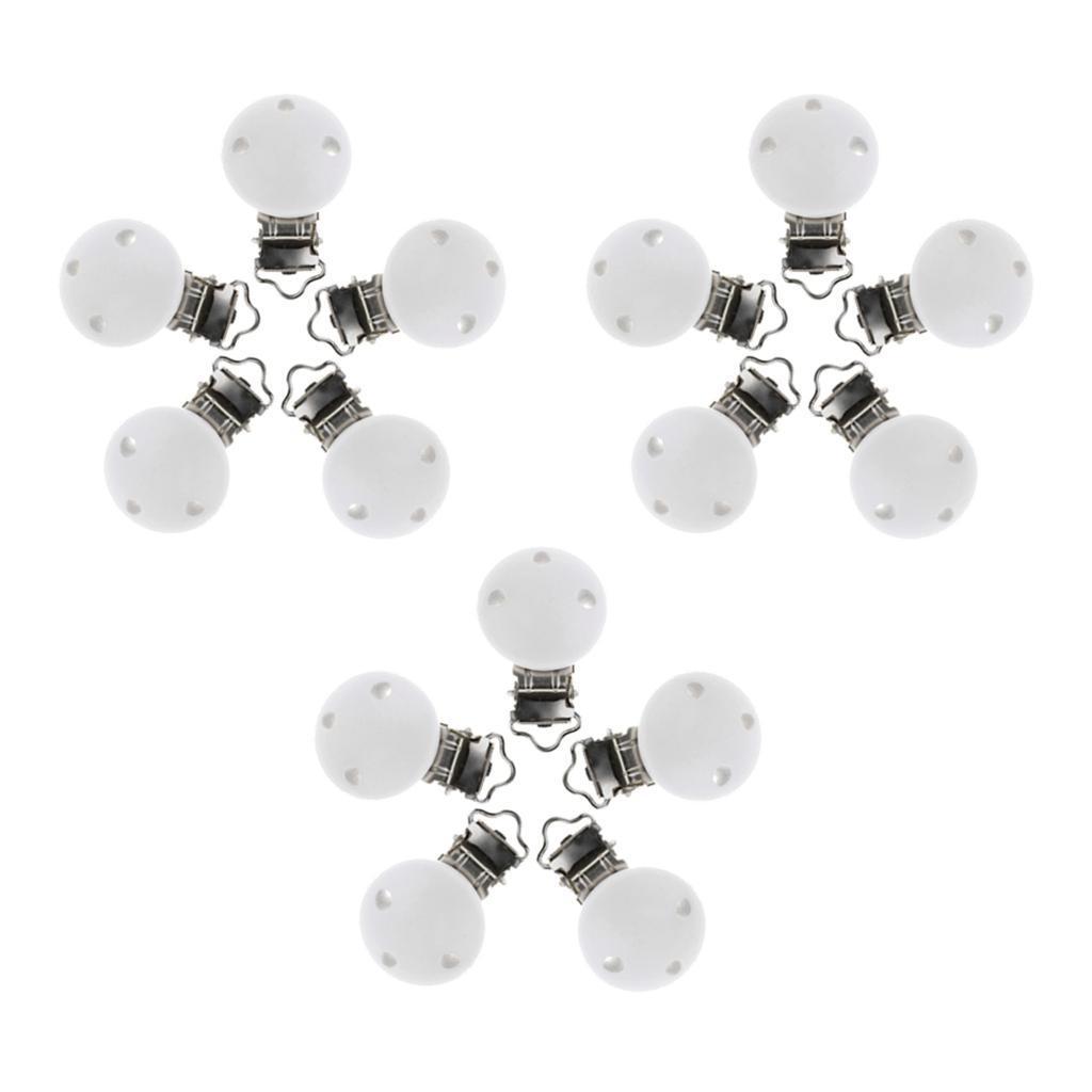 15pcs-rond-sucette-clip-perle-en-bois-bebe-dentition-accessoires-bricolage miniature 9