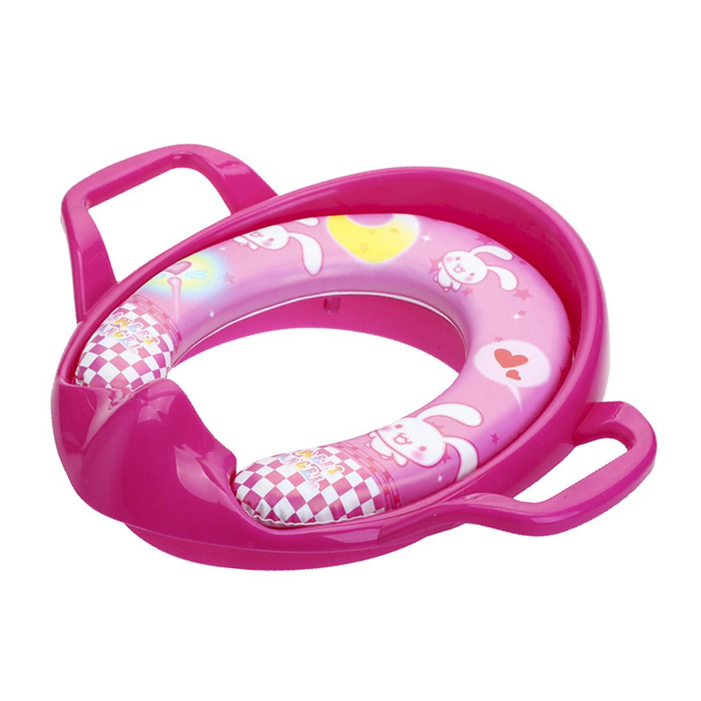 Random design /& 2 Baby Bath Sponges Childs Toddler Baby Kid Potty Training Soft Padded Toilet Trainer Universal Seat Fits any standard toilets