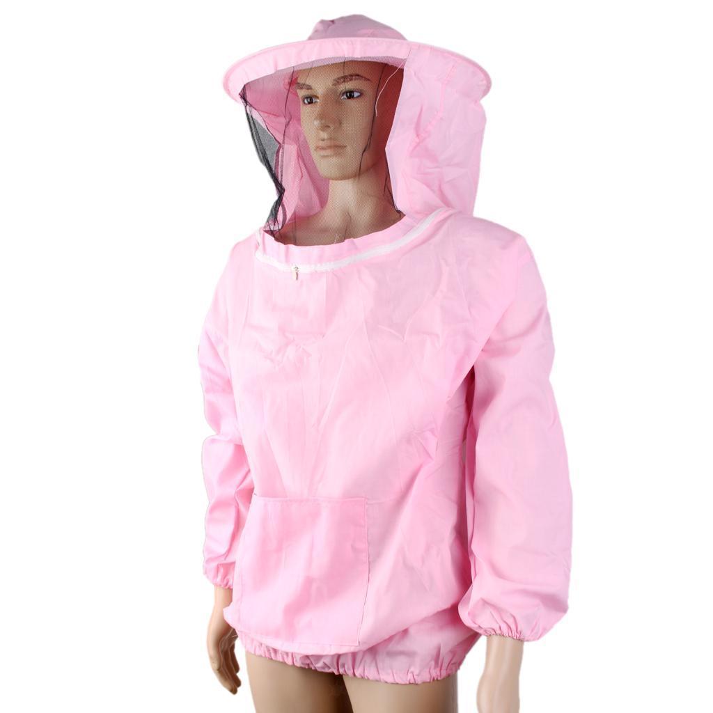 Giacca-Con-Cappello-e-Maschera-Rete-Protezione-Ape-Per-Apicoltura miniatura 19