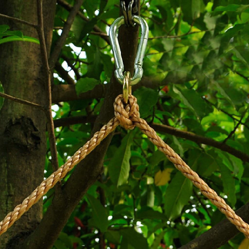 Garden-Swing-Set-Seat-Rope-Strap-Connector-Chain-Kid-Adult-Outdoor-Fun-Play-Game miniatuur 52
