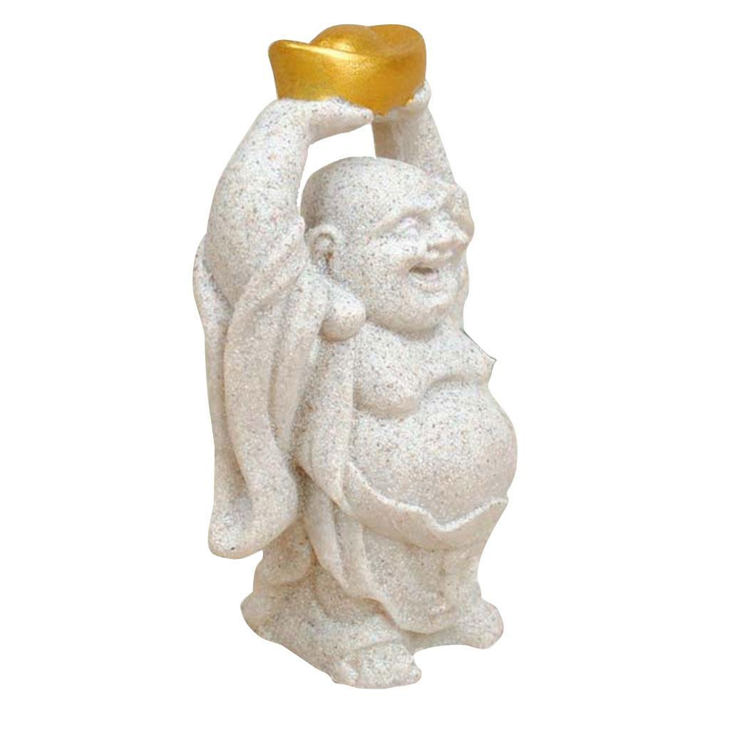 Sandstone-Carving-Statue-Sculpture-Buddha-Animal-Hand-Carved-Figurine-Decor thumbnail 3
