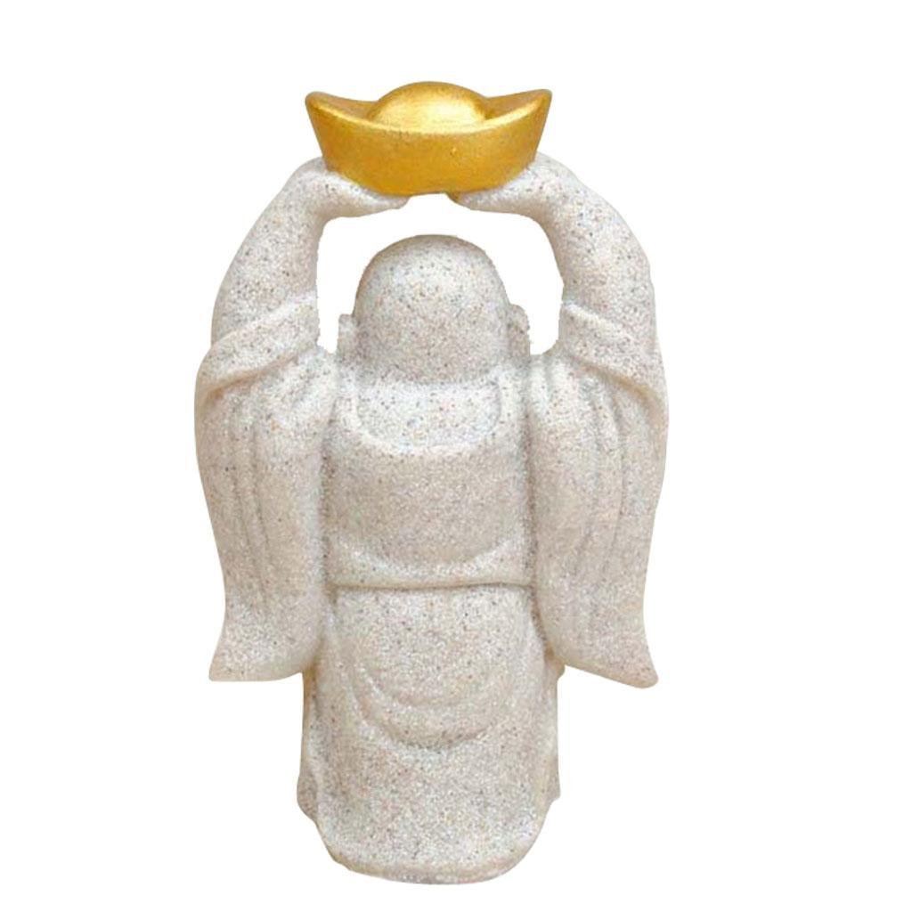 Sandstone-Carving-Statue-Sculpture-Buddha-Animal-Hand-Carved-Figurine-Decor thumbnail 4