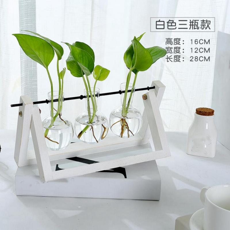 Tabletop-Hydroponic-Flower-Vase-Stands-Decorative-Wooden-Tray-with-1-2-3-Beakers thumbnail 20