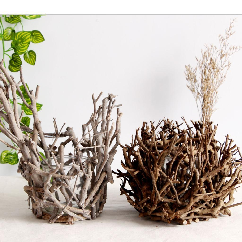 225 & Details about Creative Wooden Decorative Candle Holder Plant Flower Pot Table Centerpieces