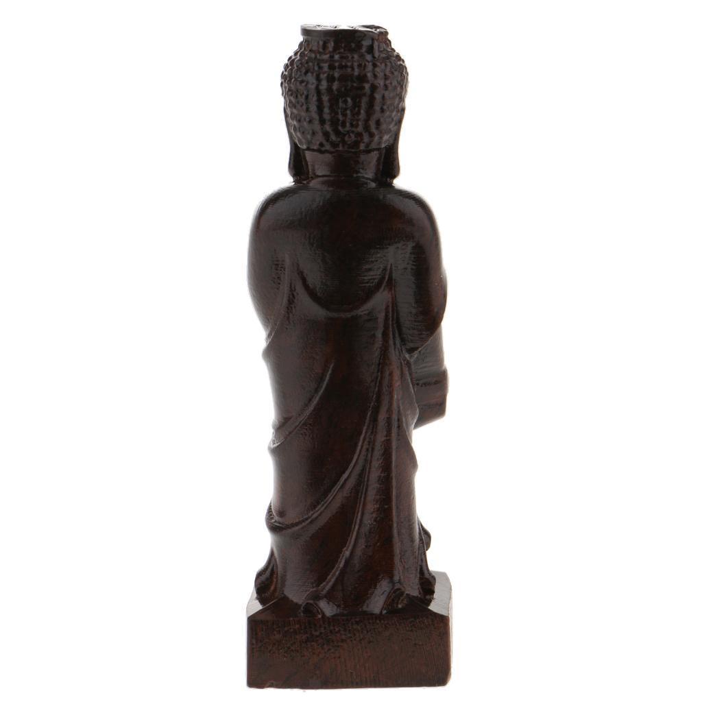 miniatura 17 - Statua Buddista Figurina Artigianale Ornamenti Supporto Tavolo Legno