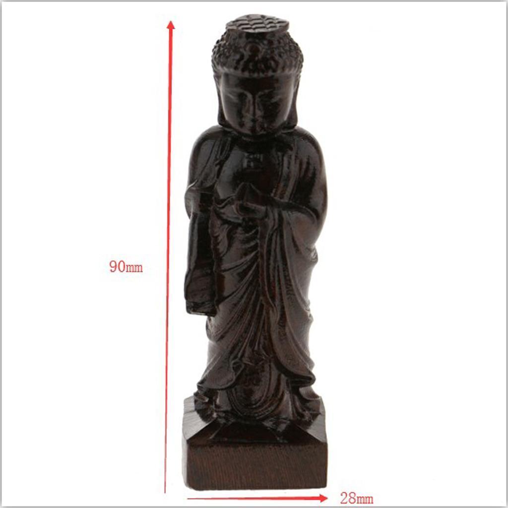 miniatura 18 - Statua Buddista Figurina Artigianale Ornamenti Supporto Tavolo Legno