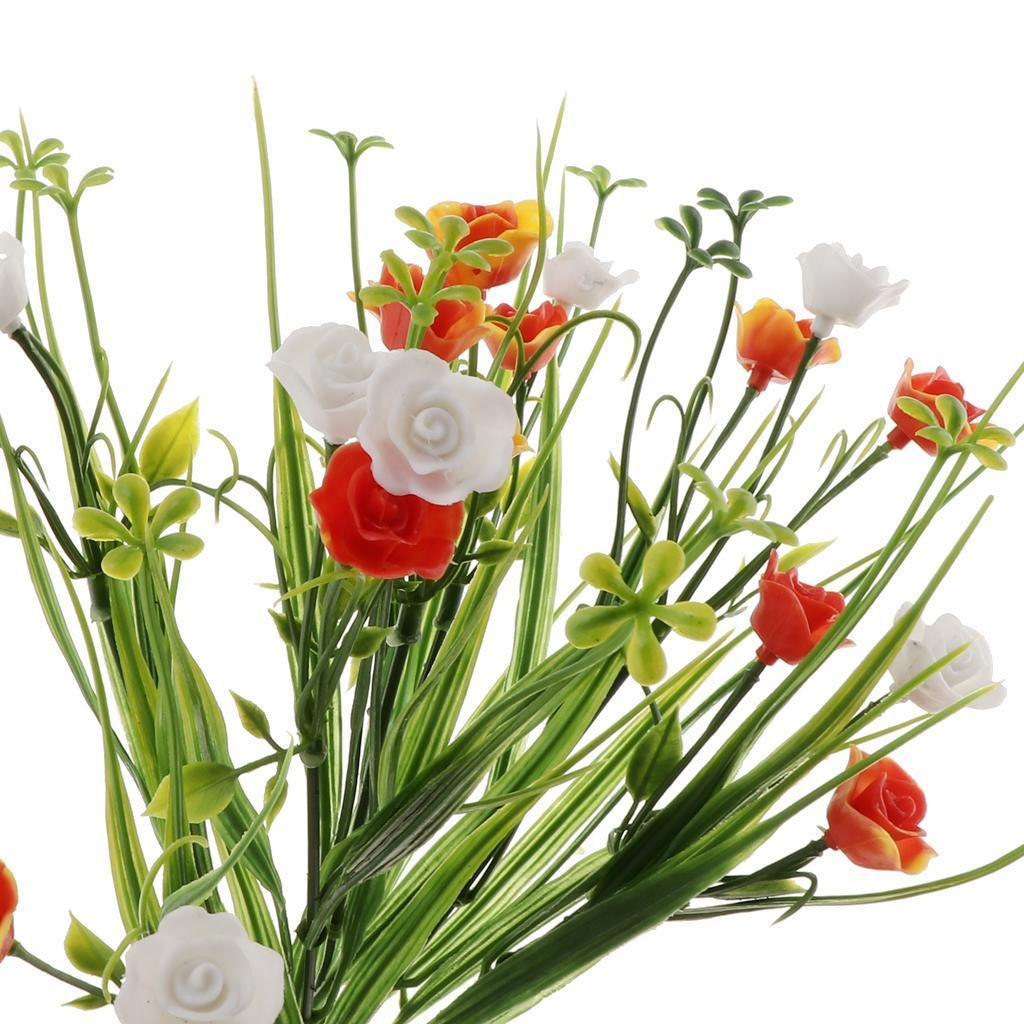 Silk Flower Bouquets Do Yourself: Artificial Flowers Spring Grass Simulation Floral Bouquet