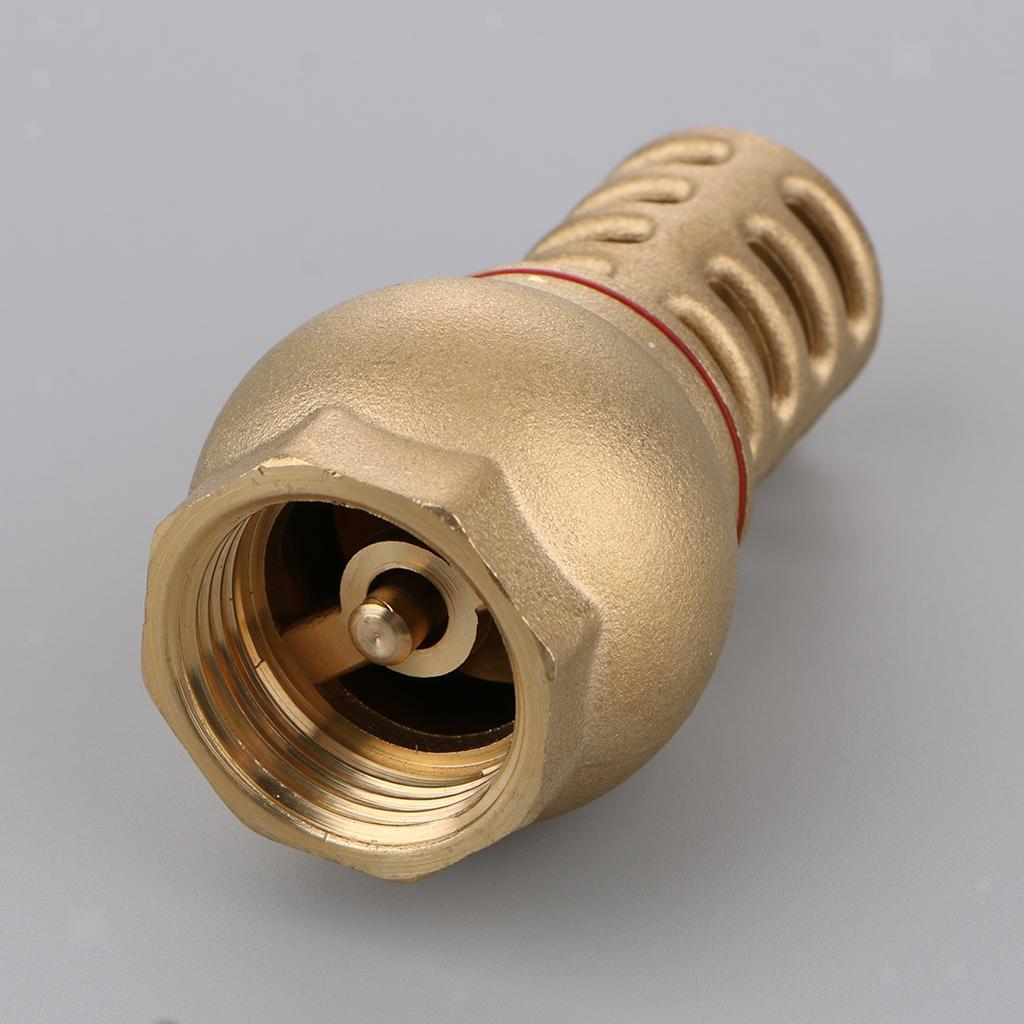 miniatura 10 - Valvola-Di-Fondo-Ottone-Massiccio-Filtro-Affidabile-Montaggio-Accessorio