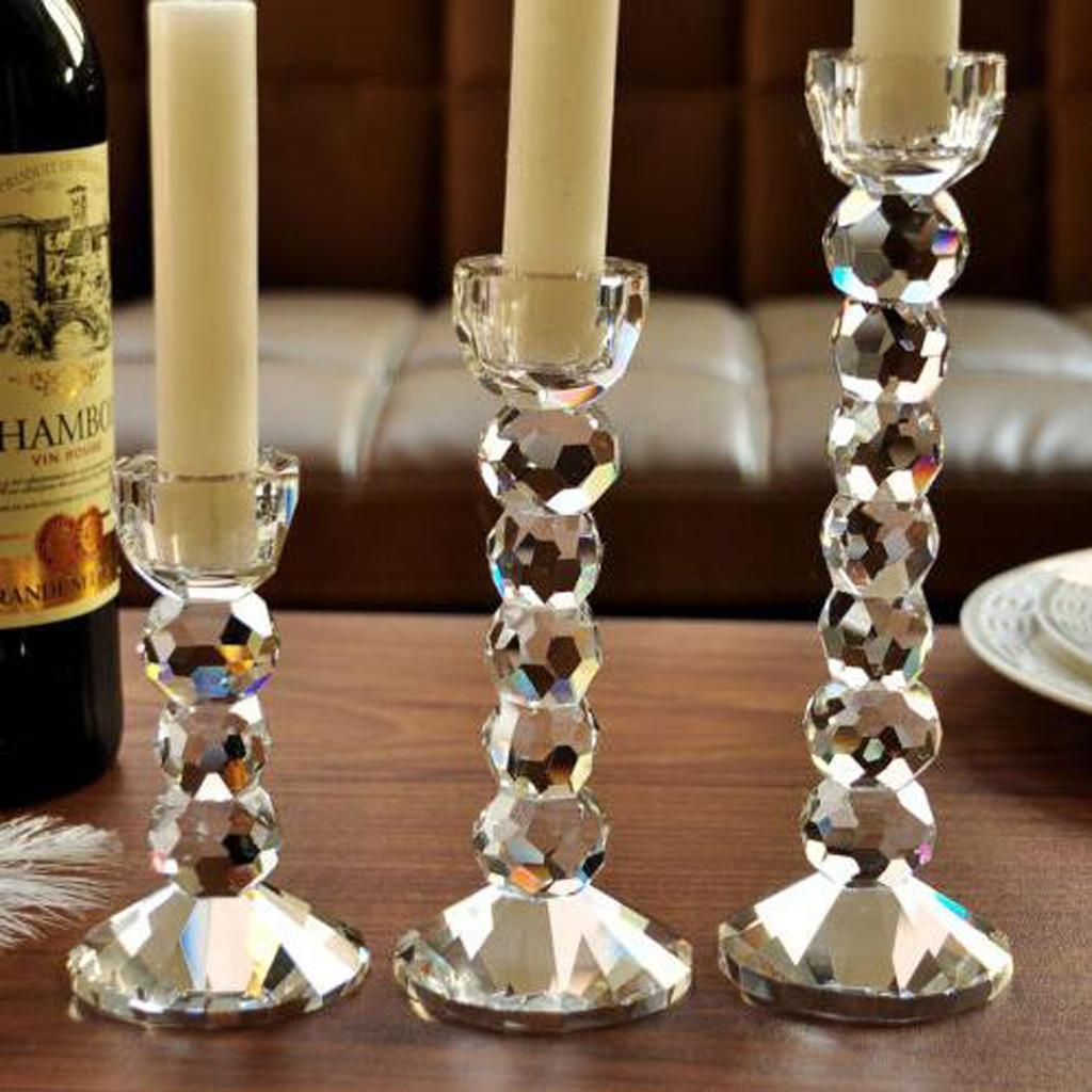 Crystal-Candlestick-Pillar-Candle-Holders-Home-Wedding-Table-Centerpieces thumbnail 7