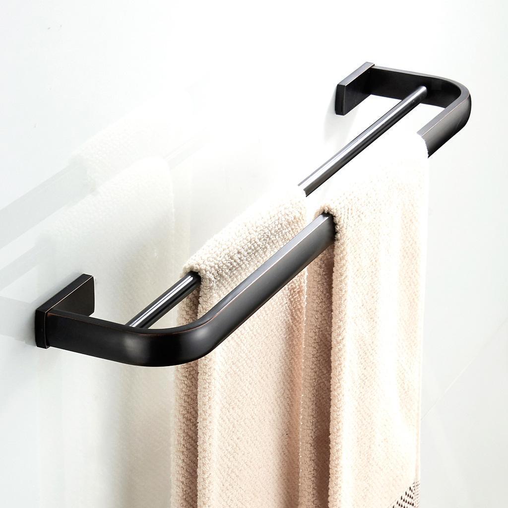 Starke Messing Doppel Bar Handtuchhalter Bad