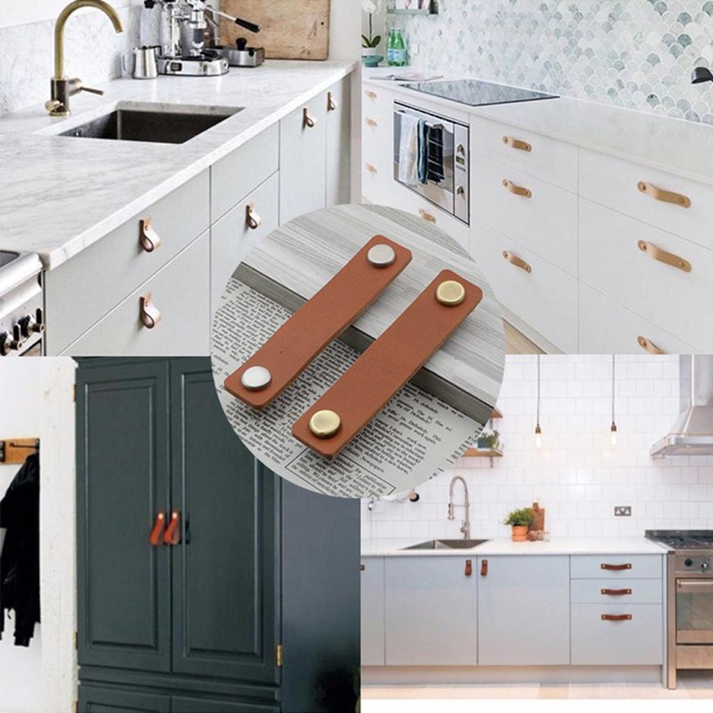 Kunstleder Möbelgriffe Küchengriffe Schrankgriffe Möbelknopf für Haus Dekoration