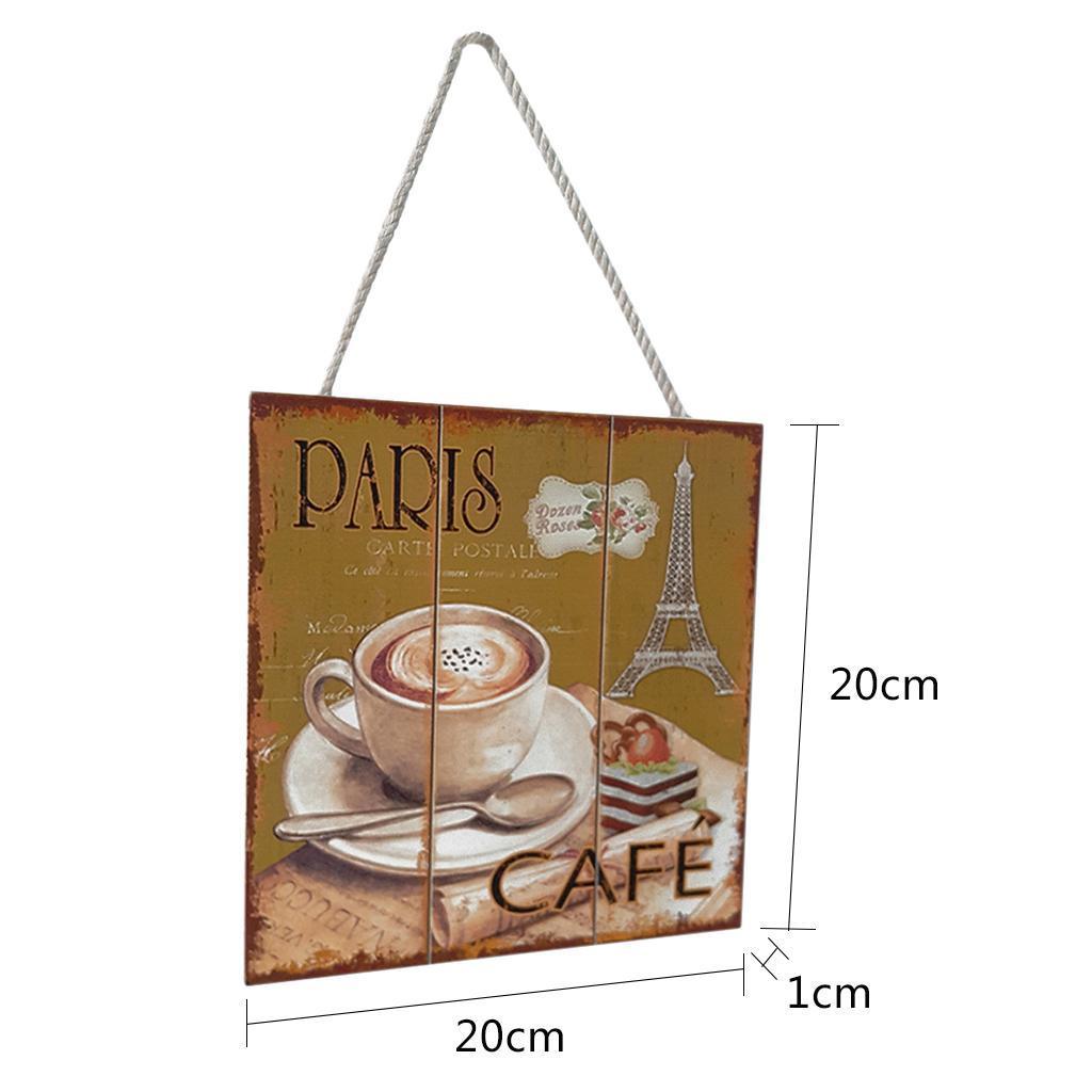 Targa-di-legno-del-segno-d-039-annata-per-la-decorazione-del-caffe miniatura 6