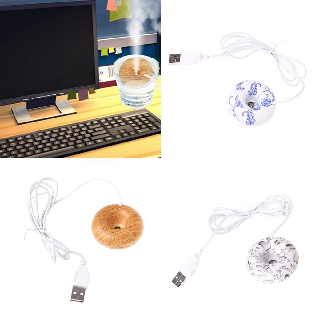 Usb Donut Humidificateur D/'air USB Bureau À Domicile Mist Brumisateur