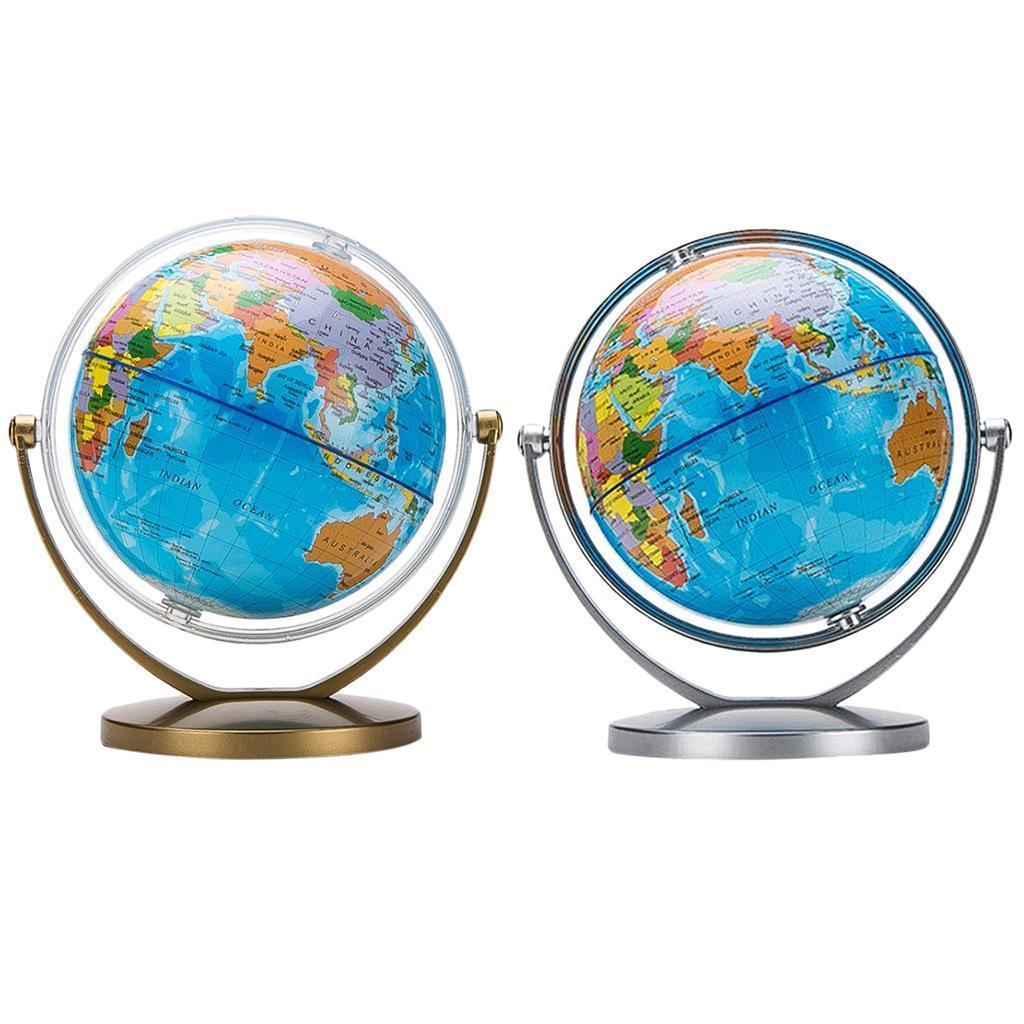 Spinning Earth Globe Map Of The World Rotating Kids ...
