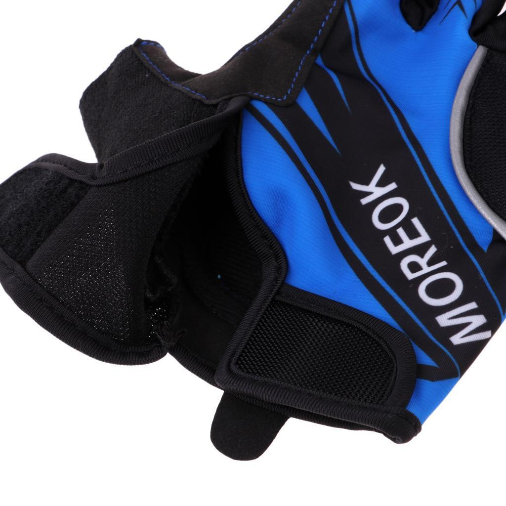 Reflective-Cycling-Gloves-Half-Finger-Gel-Padded-Bike-Bicycle-Fitness-Gloves thumbnail 3