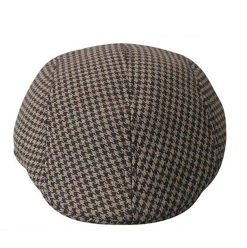 Garcon-Filles-Baseball-Beret-Casquette-Flat-Peaked-Toddler-Houndstooth-Cap-Decor miniature 8