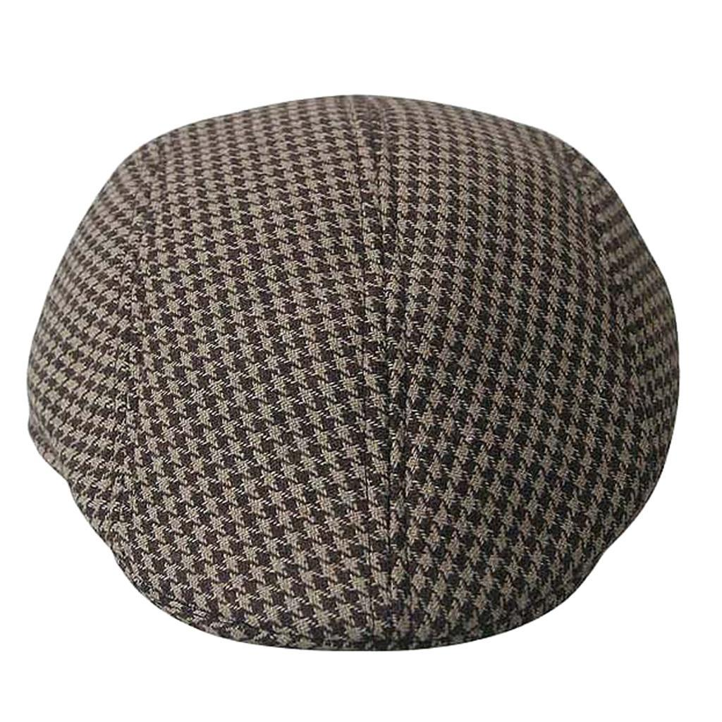 Garcon-Filles-Baseball-Beret-Casquette-Flat-Peaked-Toddler-Houndstooth-Cap-Decor miniature 11