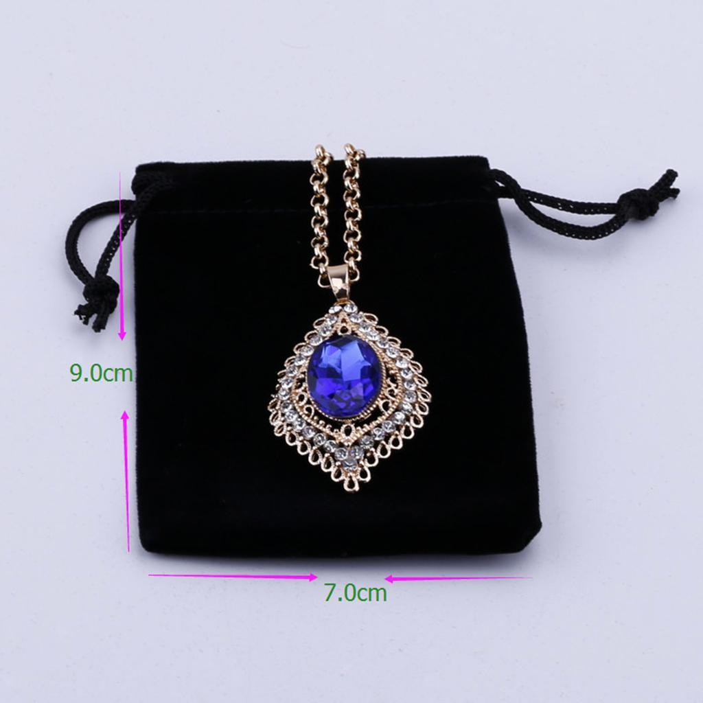 50pcs-Velours-cordon-bijoux-Sachets-Mariage-Noel-faveur-Sacs-Cadeau miniature 5