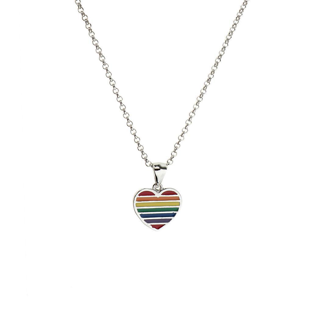Gay-Lgbt-Pride-Rainbow-Flag-Charms-Pendant-Necklace-Men-Women-Unisex-Jewelry thumbnail 7