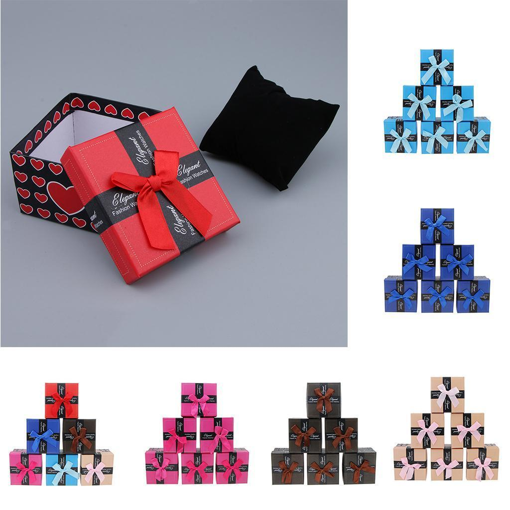 6pcs-Paper-Cardboard-Jewelry-Gift-Boxes-Watch-Ring-Earring-Bracelet-Storage thumbnail 4