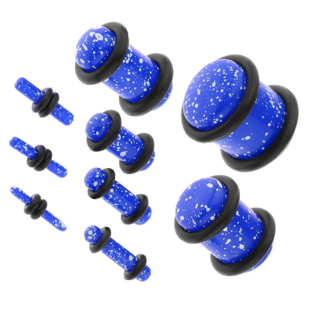 Set-18Pcs-Earplugs-Tunnel-Dilatation-Jewelry-Donna-Fashion-Fibbie miniatura 14