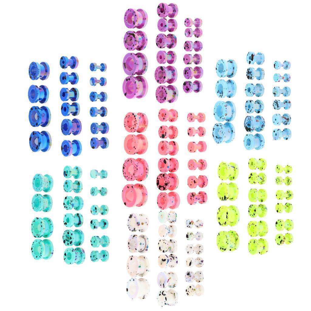 16-Pezzi-Tappi-Orecchie-Acrilico-Colorfast-Comodo-Accessorio-Moda-Per miniatura 3