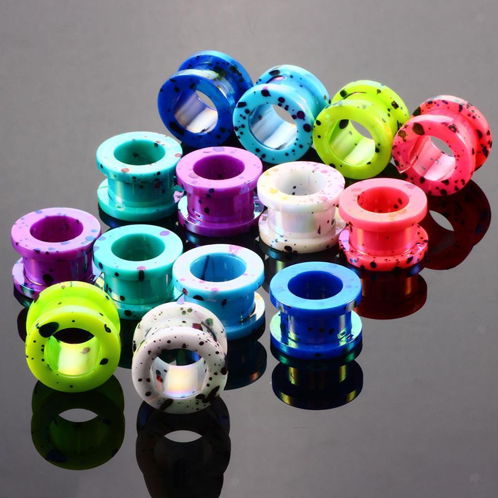 16-Pezzi-Tappi-Orecchie-Acrilico-Colorfast-Comodo-Accessorio-Moda-Per miniatura 5